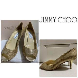 JIMMY CHOO - 美品 ジミーチュウ ゴールドグリッター パンプス
