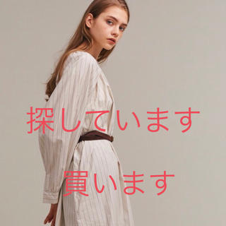 ドアーズ(DOORS / URBAN RESEARCH)のsiiwa ギャザーワンピース(ストライプ)(ひざ丈ワンピース)