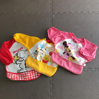 Disney - お食事用長袖エプロン マジックテープタイプ