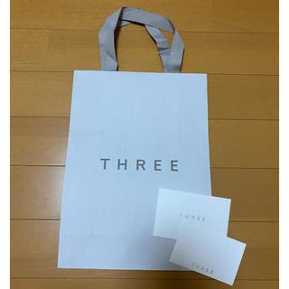スリー(THREE)のTHREE  ショップ袋 メッセージカード付き(ショップ袋)