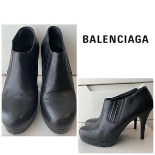 Balenciaga - バレンシアガ ブラックレザー ブーティ