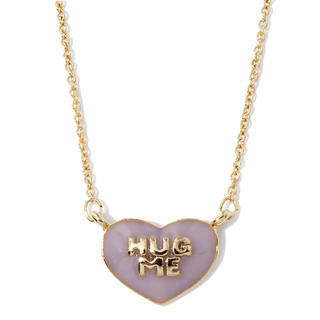 ウィゴー(WEGO)のウィゴー ハグミーハートネックレス ピンク(ネックレス)