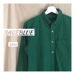 レイジブルー(RAGEBLUE)の【古着】コットンシャツ/グリーン【RAGEBLUE】(シャツ)