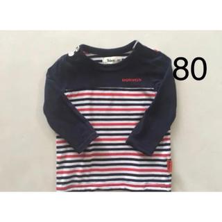 ボブソン(BOBSON)の新品同様 BOBSON ボブソン ボーダー トップス Tシャツ ベビー 80(Tシャツ/カットソー)