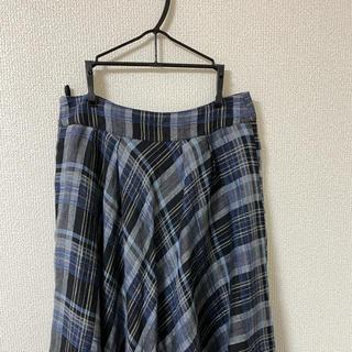 COMME CA DU MODE - KT.RINO チェックスカート フレアスカート