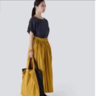ミナペルホネン(mina perhonen)の新品poolいろいろな服 ギャザーコットン巻きスカート(ロングスカート)
