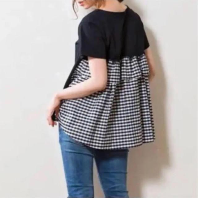 IENA(イエナ)のsono チェックフリル Tシャツ レディースのトップス(シャツ/ブラウス(半袖/袖なし))の商品写真