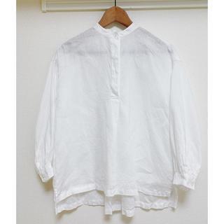 MUJI (無印良品) - 無印良品 麻100%  シャツブラウス 長袖