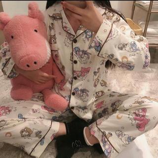ダッフィー(ダッフィー)の日本未発売 ダッフィー フレンズ パジャマ ルームウェア アイマスク付き L(パジャマ)