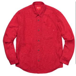 Supreme - Supreme 18ss Floral Silk Jacquard Shirt