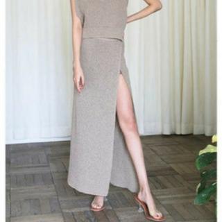SeaRoomlynn - シールームリン    paper knit スリット スカート