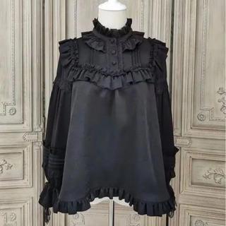 Angelic Pretty - ゴシック ロリータ レース黒 長袖シャツ