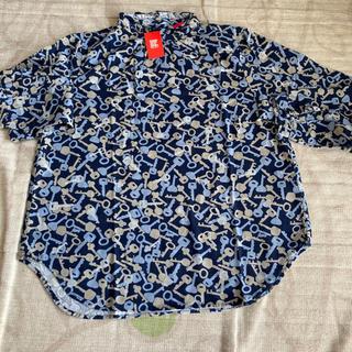 グラニフ(Design Tshirts Store graniph)のグラニフ ギャザーネックロングスリープシャツ(ソーメニーキーズ)(シャツ/ブラウス(長袖/七分))