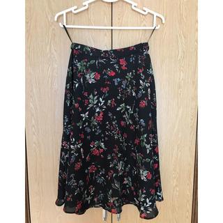 ナチュラルビューティーベーシック(NATURAL BEAUTY BASIC)のナチュラルビューティーベーシック フラワープリント スカート(ひざ丈スカート)