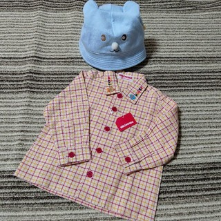 ミキハウス(mikihouse)のMIKI HOUSE 長袖ボタンシャツ 帽子セット(シャツ/カットソー)
