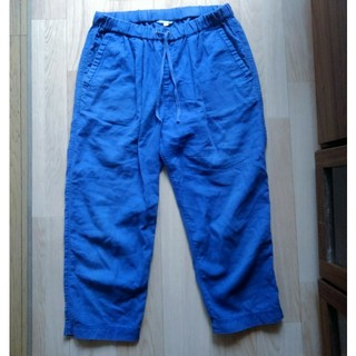 スタディオクリップ(STUDIO CLIP)のStudioclip ブルーの麻パンツ(カジュアルパンツ)