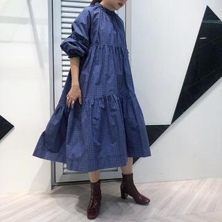 RESTIR - 新品タグ付き【IRENE】Check Tired Tent Dress