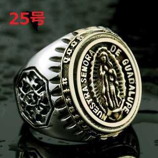 聖母 マリア イエス キリスト ジーザス リング 指輪 海外限定 25号(リング(指輪))