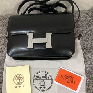 Hermes - 海外ノベルティー コンスタンス ブラック ボックスカーフ
