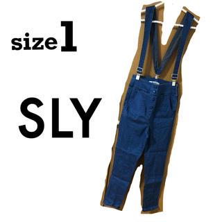 スライ(SLY)のSLY デニムパンツ(サロペット/オーバーオール)