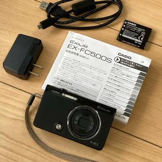 カシオ(CASIO)のCASIO デジタルカメラ EXILIM EX-FC500S ブラック(コンパクトデジタルカメラ)