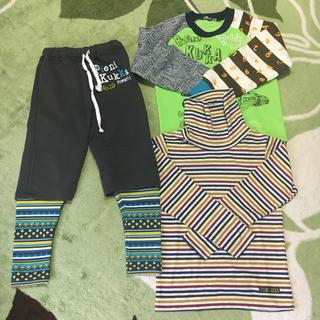 クッカ(kukkA)の【送料込み】PIENI KUKKA 男の子 秋服 130cm 3点セット(Tシャツ/カットソー)
