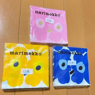 マリメッコ(marimekko)の【開封済み】ペーパーナプキン   マリメッコ   24cm   36枚(各種パーツ)
