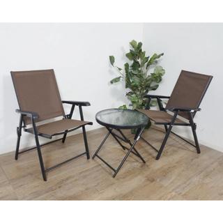 送料無料【新品】3点セット ガーデンテーブル&チェア アウトレット