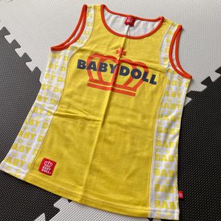 ベビードール(BABYDOLL)のBABYDOOL ベビードール タンクトップ  ロゴ イエロー XS 新品未使用(タンクトップ)