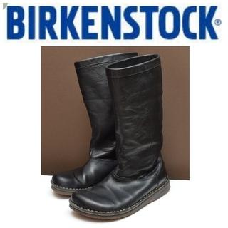 BIRKENSTOCK - BIRKENSTOCK ビルケンシュトック  39 本革 ロングブーツ ブラック