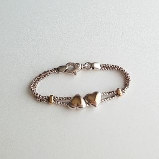 Tiffany & Co. - ティファニー K18 925 ダブルロープ ハート ブレスレット