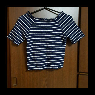 ミスティウーマン(mysty woman)のmysty woman ボーダートップス(Tシャツ(半袖/袖なし))
