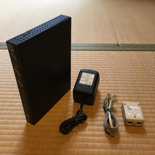 エヌイーシー(NEC)のNEC ADSLモデム AtermWD605CV、スプリッターセット(PC周辺機器)