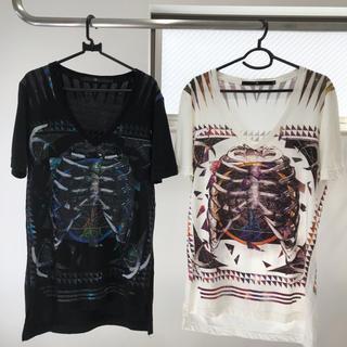 ノーアイディー(NO ID.)のtaku様専用 NOID.ノーアイディー 骨プリントビッグTシャツ 2着セット(Tシャツ/カットソー(半袖/袖なし))