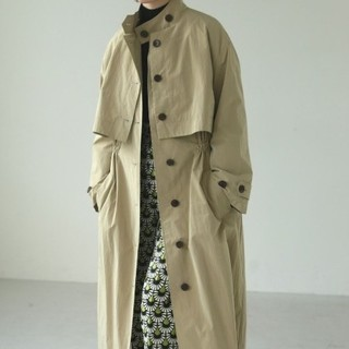 TODAYFUL - TODAYFUL Cape Trench Coat    ベージュ