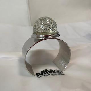 エムエムシックス(MM6)の新品未使用!MM6 マルジェラ スノードム装飾シルバーブレスレット(M)(ブレスレット/バングル)