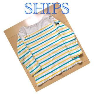 SHIPS - SHIPS ボーダートップス