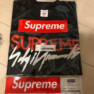 シュプリーム(Supreme)の【値下げ】Yoji Yamamoto Logo Tee 黒 M (Tシャツ/カットソー(半袖/袖なし))