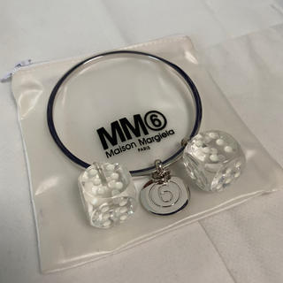 エムエムシックス(MM6)の新品未使用!MM6 マルジェラ シルバーサイコロ6ブレスレット(L)(ブレスレット/バングル)
