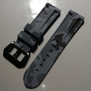 ラバーベルト カモフラ ラグ幅24mm パネライやアップルウォッチなどにオススメ