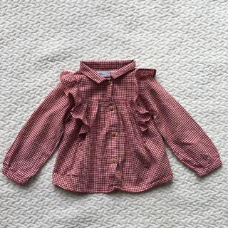 ザラキッズ(ZARA KIDS)のZARAbaby チェックシャツ(ブラウス)