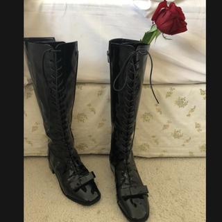 ロキエ(Lochie)のepine lace up ribbon boots(ブーツ)