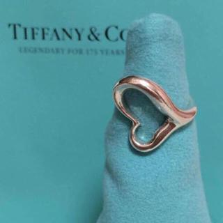 ティファニー(Tiffany & Co.)のティファニー  正規品 オープンハート リング 5号 ✨ ハート ピンキーリング(リング(指輪))