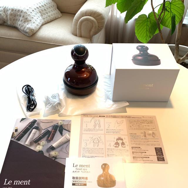 ルメント Le ment ヘッドスパ ☆ メーカー保証あり スマホ/家電/カメラの美容/健康(マッサージ機)の商品写真