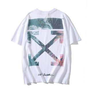 オフホワイト(OFF-WHITE)の大人気!OFF WHITEオフホワイト半袖Tシャツ F14(Tシャツ/カットソー(半袖/袖なし))
