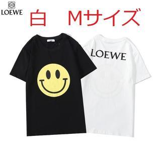 ロエベ(LOEWE)の中古値下げ国内発送着払い LOEWEロエベ半袖Tシャツ 白Mサイズ(Tシャツ(半袖/袖なし))