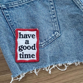 MOUSSY × have a good time DENIM SHORTS