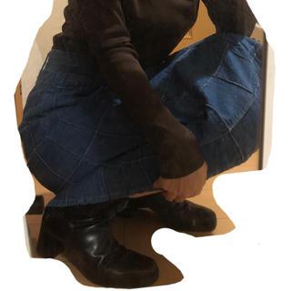 ロキエ(Lochie)のUS vintage denim patchwork skirt(ロングスカート)