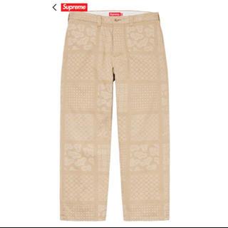 Supreme - 定価以下 Supreme Paisley Grid Chino Pant