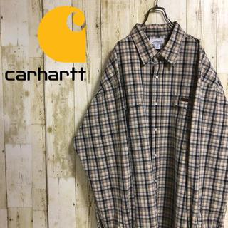 カーハート(carhartt)のカーハート 革タグ ダブルポケット ビッグサイズ ベージュ チェック 長袖シャツ(シャツ)